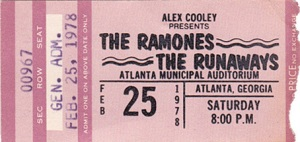 Ticket RAMONES