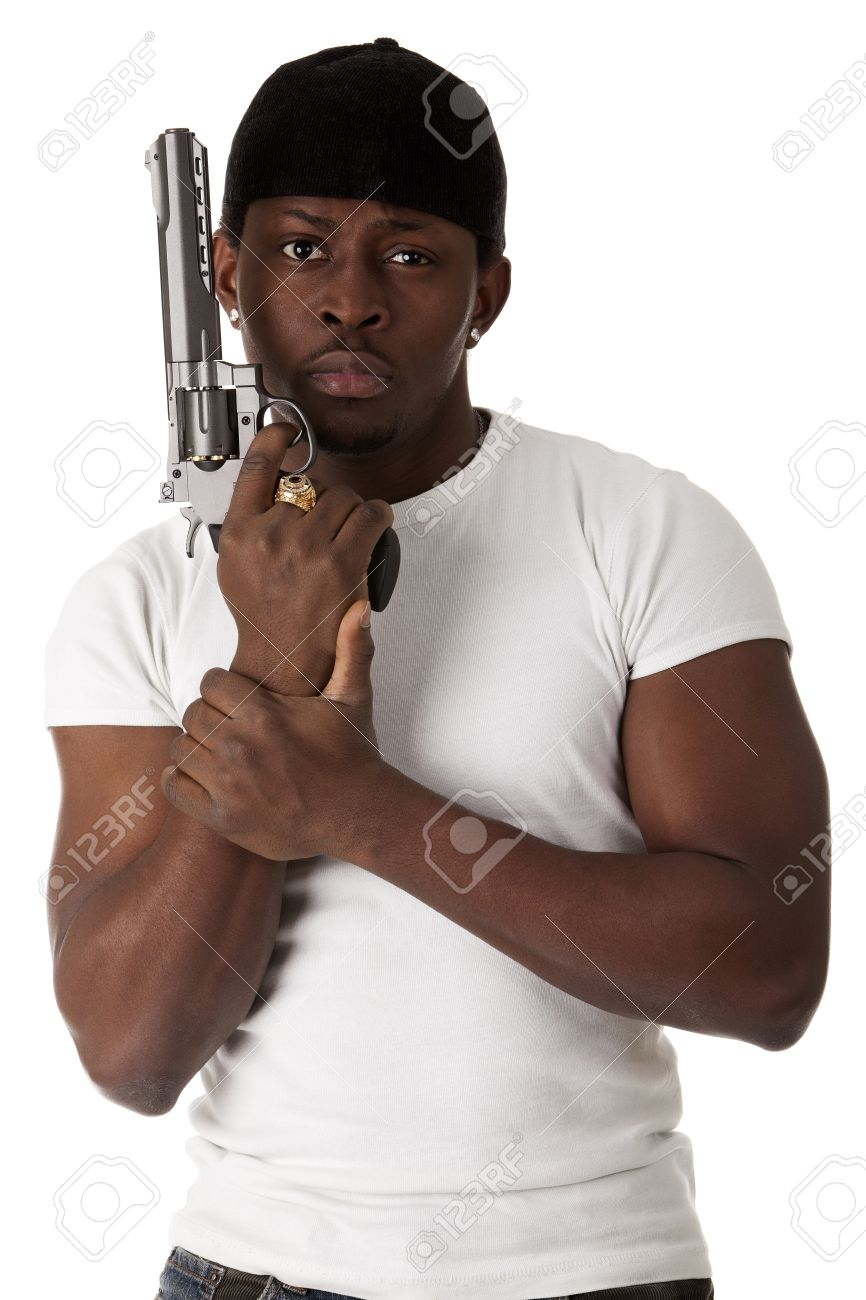13042562-Image-de-jeune-voyou-avec-un-pistolet-Banque-d'images