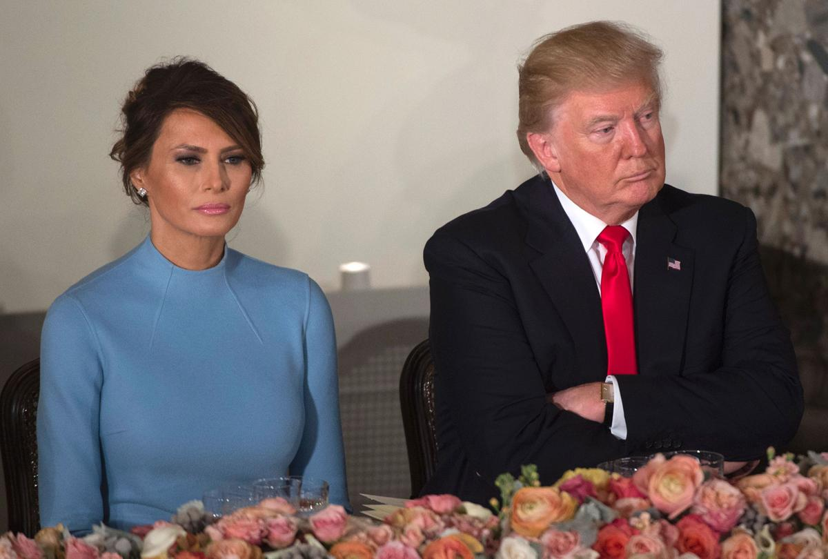 First-Lady-Melania-caught-on-camera-scowling-during-inauguration-after-President-Trump-turns-away